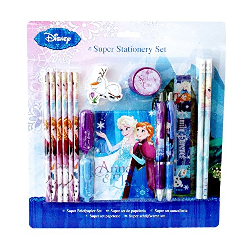 La Reine des Neiges - Disney Frozen - XXL Pen Set - Set Papeterie 16 Parties