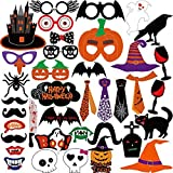 KUUQA 38 PCS Halloween Photo Props Kit Decorazioni di Halloween Party