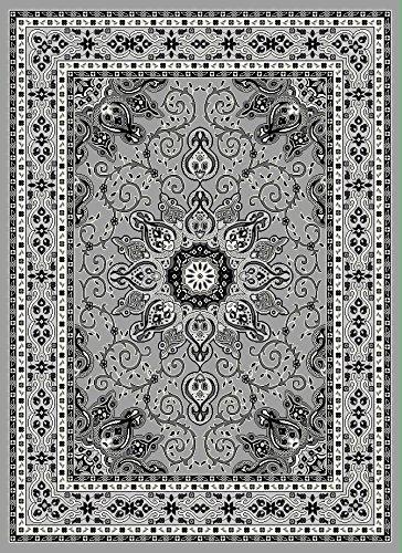 Luxus Bettwäsche Kollektion Oriental Klassisches Muster, Bereich Teppich Hochflor Heat Set New D653 5'X7' Grau (Oriental Bereich Teppich)