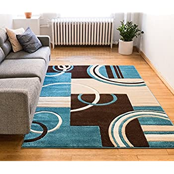Echo Shapes Amp Circles Blue Amp Brown Modern Geometric Comfy