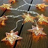 Kamaca Dekorative und Stilvolle LED Lichterkette Magical MAROCCO (Metall - Sterne 6 cm)