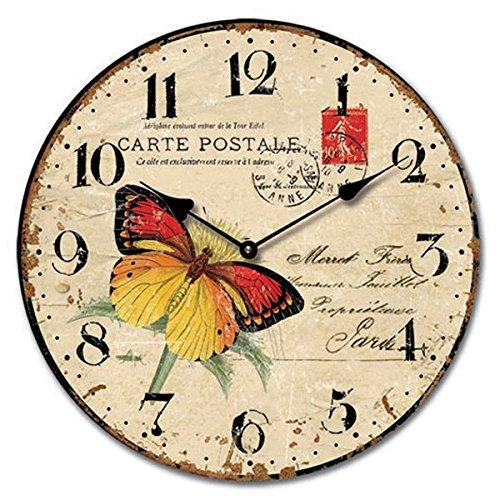 Time Butterfly Wall Clock, Multi, 36 Cm Diameter