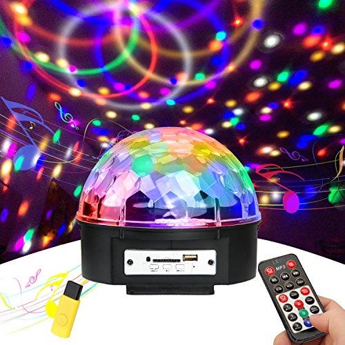 Discokugel, Ubegood Disco Lichteffekte LED Lichteffekte Partylicht Partybeleuchtung mit Fernbedienung Beleuchtung Discolicht Projektor Magic Ball Light für Weihnachten Kinder Geburtstag Party