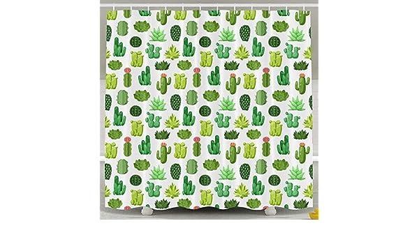 Suminla-Home cactus modello inodore impermeabile tende da doccia per bagno PREMIUM 100/% poliestere tessuto decorativo design bagno tenda 152,4/x 182,9/cm