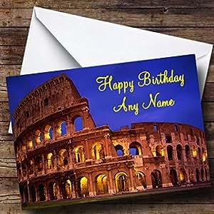 Coliseum Rome Italie Carte d'anniversaire personnalisée