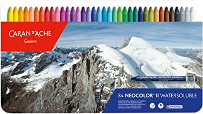Caran Dache Neocolor II Superior Quality Water-Soluble Artist Pastels 84 Shades