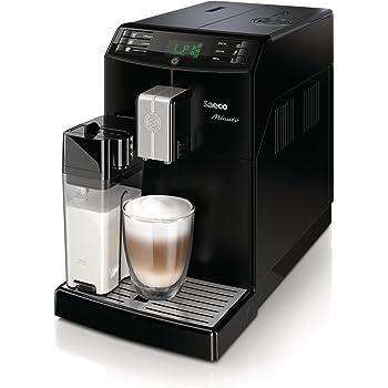 Saeco HD8763/01 Minuto Kaffeevollautomat, integrierte Milchkaraffe, schwarz