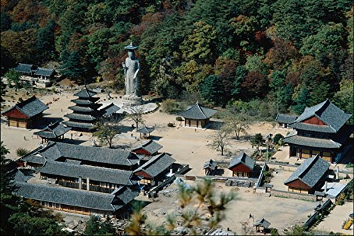 772010 Popchusa Temple And Songnisan Mountain South Korea A4 Photo Poster Print 10x8 Test