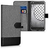kwmobile Motorola Moto Z2 Play Hülle - Kunstleder Wallet Case für Motorola Moto Z2 Play mit Kartenfächern und Stand