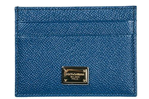 Dolce&Gabbana Kreditkartenetui Echtleder Herren Kreditkarten Geldbörse blu (Dolce Gabbana Herren-geldbörsen &)