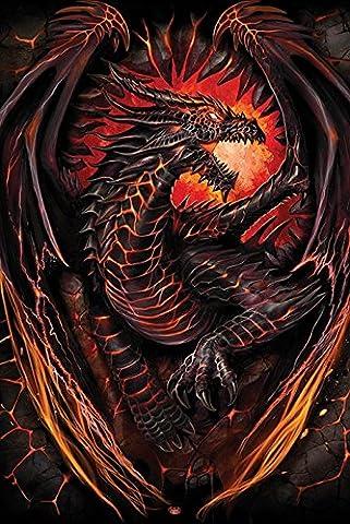 Spiral Dragon Furnace Poster Maxi, en bois, multicolore