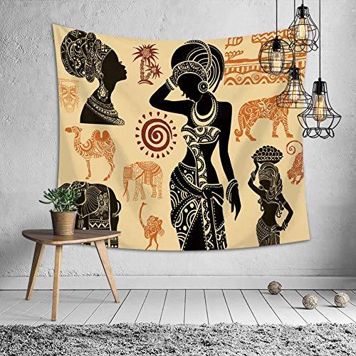 Indien Tribal Von Kostüm - Zuonuoo Ethnische Schönheit Kostüm Wandbehang Hippie Tribal Tapisserie Wand werfen 1 59.1in × 78.7in / 150 * 200cm