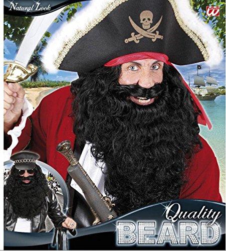 Schwarzer Riesen Vollbart Piraten Bart ()