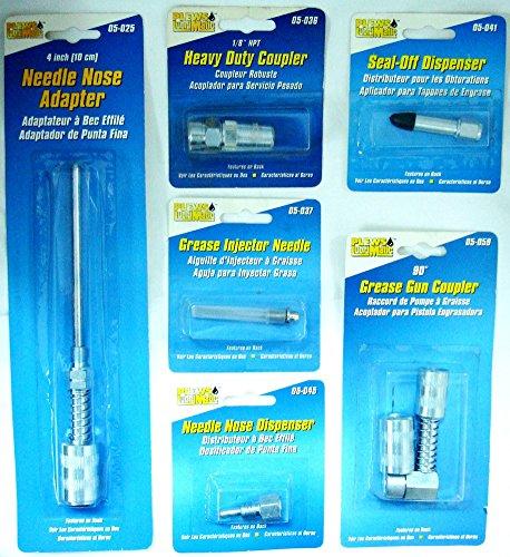 professionnel spécial Pistolet à graisse Distributeur de coupleurs Adaptateurs 6 pcs Kit Automotive