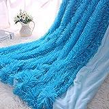 QIYUN.Z Super Weichen Haus Plüsch Warme Flauschige Shaggy Werfen Decke Für Sofa Oder Bett(Blau, 62.99 * 78.74