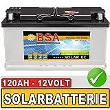 BSA Solar DC 12V 120Ah Solarbatterie Schiff Boot Marine Wohnmobil