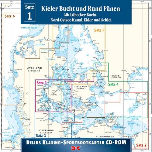 Sportbootkarten Satz 01/2005. Kieler Bucht und Rund Fünen. CD-ROM. Mit Lübecker Bucht und Schlei.