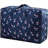 House of Quirk Fabric 50 cm Travel Duffle (2XL_STORAGEBAG_BLUFLAMINGO_Blue)