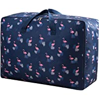 House of Quirk Fabric 50 cm Travel Duffle (2XL_STORAGEBAG_BLUFLAMINGO_Blue)