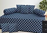 #4: Diwan Set Of 8 Pieces -Blue-Checkkered-Chain pattern