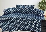 #2: Amayra Diwan Set of 8 pieces, 100% Cotton, Blue Chain Pattern