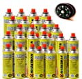 28 PACK BUTANE GAS CANS BOTTLES CANISTER HEATER 28x COOKER BBQ + Compass Button For Camping Hiking Climbing Sailing