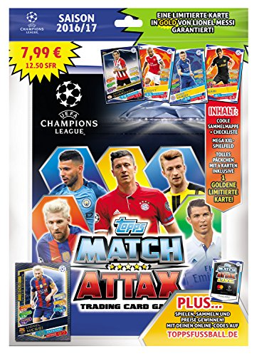 Match Attax Weihnachtskalender.Topps D105726 De Match Attax Cartes à Collectionner Starter Pack Champions League Saison 2016 17 Chemise Checklist Terrain De Jeu 5 Cartes Et 1