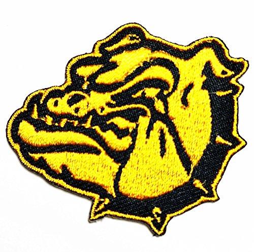 (Pitbull Bulldog Hund Patch Cartoon bestickt Nähen Eisen auf Patch Cartoon Nähen Eisen auf bestickte Applikation Craft handgefertigt Baby Kid Girl Frauen Tücher DIY Kostüm Zubehör)