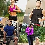 ORAMICS Laufgürtel für Smartphone mit elastischem Band Running Belt zum Joggen, wetterfeste Bauchtasche für Reisen und Sport, Fitness-Gürtel in schwarz -