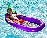 Giant Auberginen Pool Party Float Raft Air Kissen Bett Schwimmen Lilo Floating Aufblasbare Floatie Lounge/Pool Liegen Spielzeug für Erwachsene & Kinder 250cm * 100cm(Umweltmaterialien)