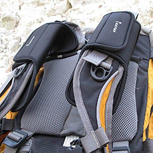 Imagen para WINOMO cómodo mochila mochila engrosamiento cinturón de hombro Cojín almohadillas–1par