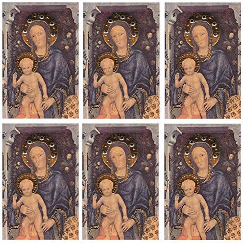 6 Edle Grußkarten, Maria mit Kind, Set 3, reduziert! - Susy Card