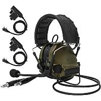 TAC-Sky COMTA III Doppelstecker Taktisches Headset, Gehörschutz, Schallverstärkung für Airsoft Sport