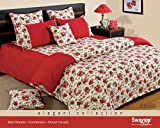 Swayam Red and White Colour Floral Doubl...