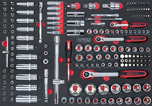 KS TOOLS 711.1011 Module de douilles et accessoires 1/4'' - 3/8'' - 1/2'', 172 pièces