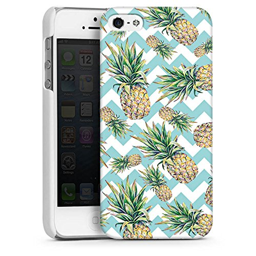 Apple iPhone 5s Housse Outdoor Étui militaire Coque Ananas Motif Motif CasDur blanc