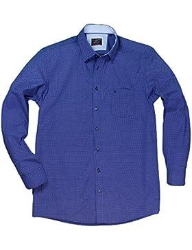 Fein gemustertes Casamoda Hemd in Übergröße