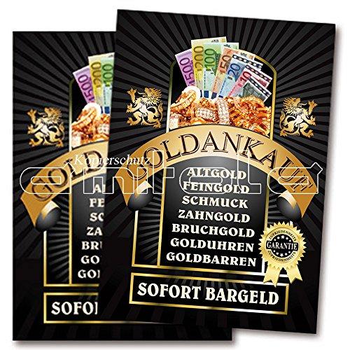 2 x Goldankauf Poster / Plakate DIN A1 Werbung für Juweliere