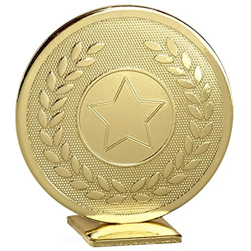 60mm Metall gold Star selbst stehend Medaille Trophy Award mit gratis Gravur bis zu 30Buchstaben