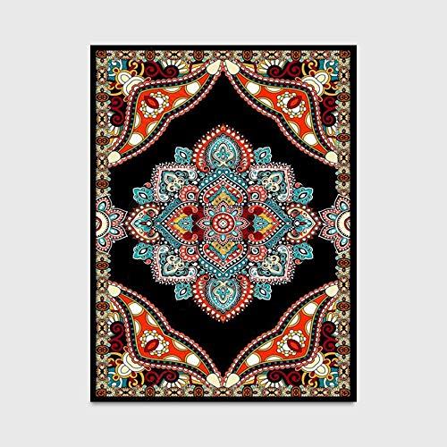 Inicio Alfombra Alfombras Living floral bohemio étnico Pila grande Soft Touch grueso Dormitorio Moderno...
