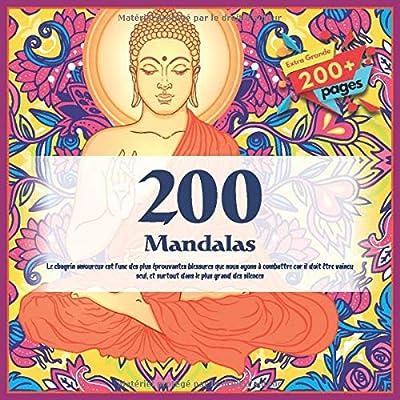 200 Mandalas - Le chagrin amoureux est l'une des plus éprouvantes blessures que nous ayons à combattre car il doit être vaincu seul, et surtout dans le plus grand des silences