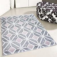 Mynes Home Teppich Kurzflor Rosa Pastell Rose Skandinavisch Ethno Design  Wohnzimmer Designer Modern Jugendzimmer Teppiche (