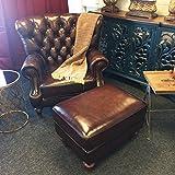 LUXUS Sessel Fireplace Deluxe aus echten Italienischem Rindsleder
