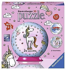 Ravensburger- Puzzle 3D Bola Unicornio 72 Piezas. (11841 0)