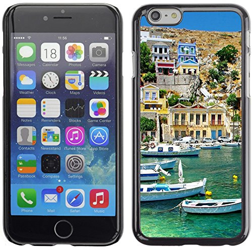 Graphic4You Greece Coast View Postkarte Ansichtskarte Design Harte Hülle Case Tasche Schutzhülle für Apple iPhone 6 Plus / 6S Plus Design #1