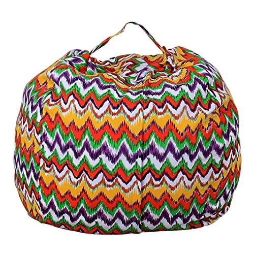 Stofftier Kuscheltiere Aufbewahrung Aufbewahrungstasche Sitzsack Kinder Soft Pouch Stoff Stuhl (One Size, D) (Für Sitzsäcke Kinder Günstige)