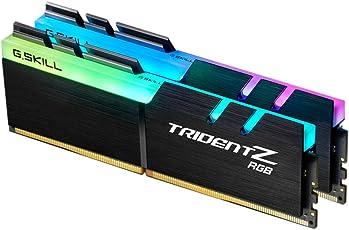 G.SKILL F4-3000C16D-16GTZR 16 GB (8 GB x 2) Trident Z R GB-Serie DDR4 3000 MHz PC4-24000 CL16 Zweikanal-Speichersatz - Schwarz mit voller Länge RGB LED-Lichtleiste