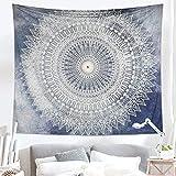 Dremisland indischer Wandteppich Wandbehang Mandala Blume Tuch Wandtuch Tapestry Indien Hippie Boho Stil als Dekotuch Tagesdecke indisch orientalisch psychedelic