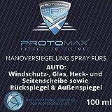 PROTOMAX Nanoversiegelung-Spray fürs Auto: Windschutzscheibe, Glasscheibe, Heckscheibe, Seitenscheibe, Rückspiegel, Außenspiegel (100 ml)