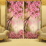 B7 CREATIONS Digital Print Floral Whiteout Eyelet Door Curtain 1 Piece - (46x82 Inch / 4x7 Feet Approx), Multicolor